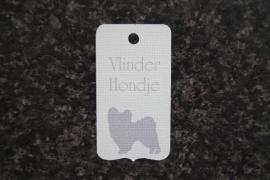 Label Vlinderhondje