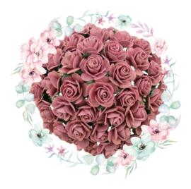 Roosjes Dusky Pink 10mm Bosje van 10