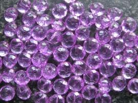 Facet rondel paars (3) 10 bij 6 mm