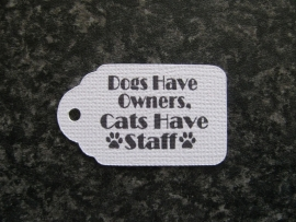 Label Dogs have owners, Cats have staff