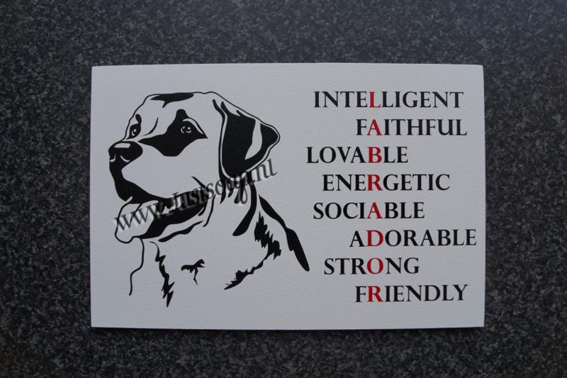 Tekstbord Labrador
