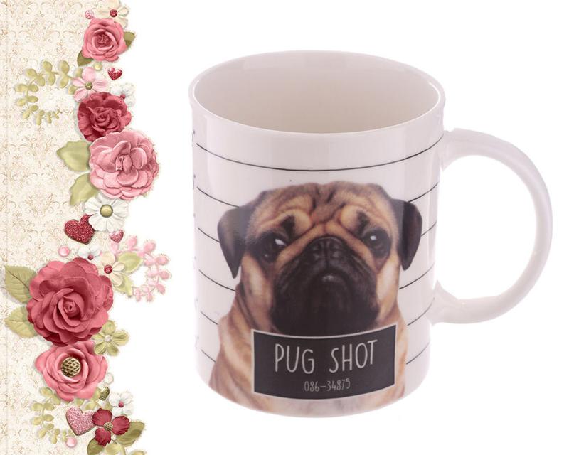 Mok Mopshond Pug Shot