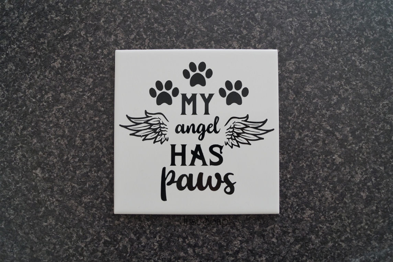 Tegeltje My angel has paws