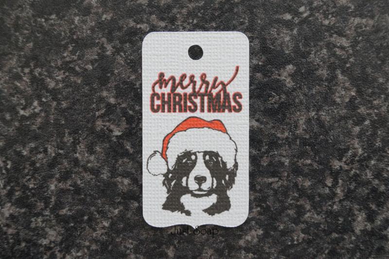 Label Berner Sennen Kerst 1 (10 stuks)