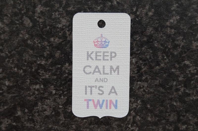 Label Keep calm and it's a twin Jongen Meisje
