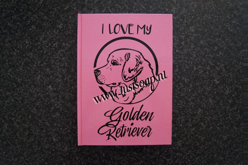 Notitieboekje I Love my Golden Retriever