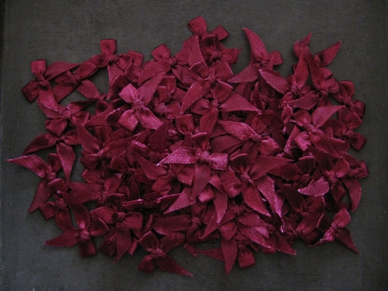 Strikjes Bordeaux Rood 2,5 cm