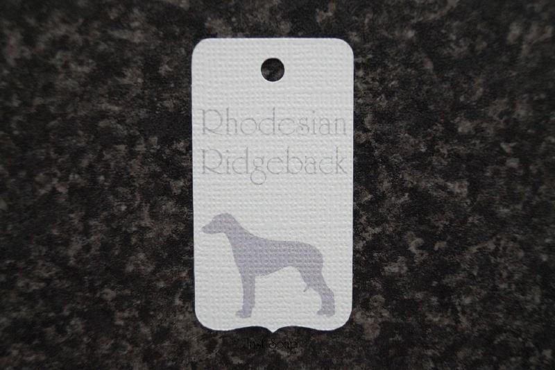 Label Rhodesian Ridgeback