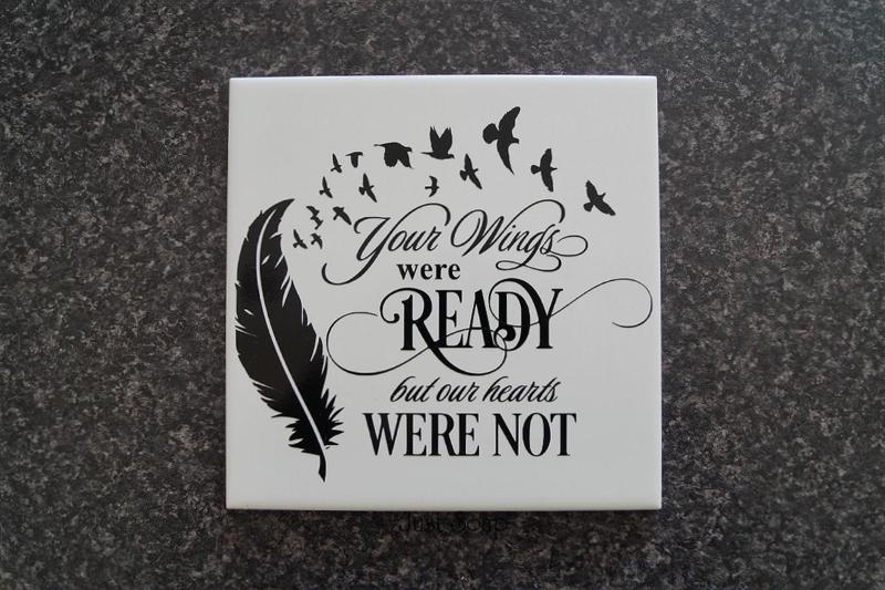 Tegeltje Your wings were ready...