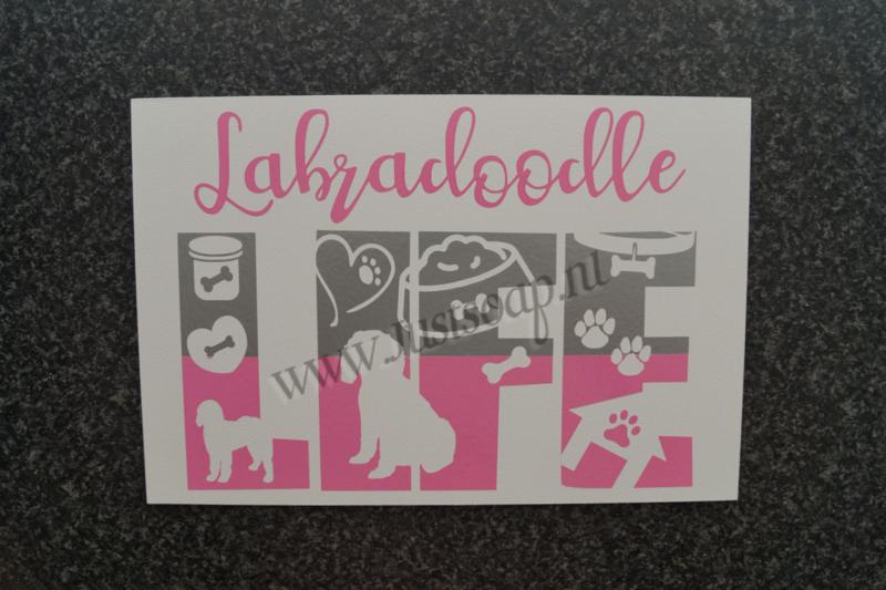 Tekstbord Labradoodle Life