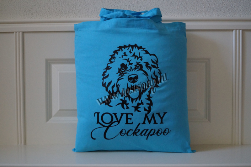 Schoudertas Love my Cockapoo