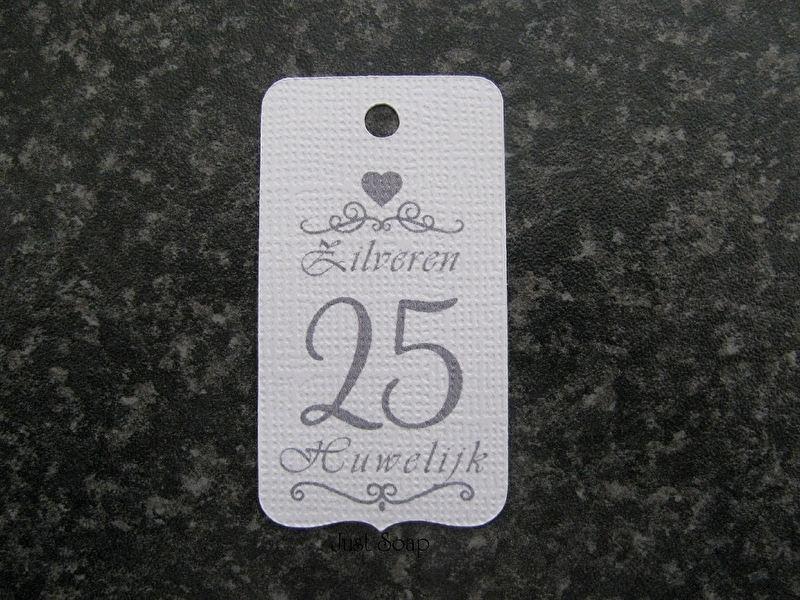 Label 25 Zilveren Huwelijk
