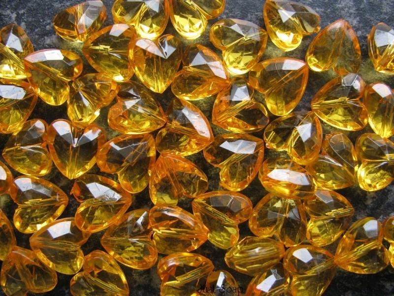 Facet hart 12mm Oranje