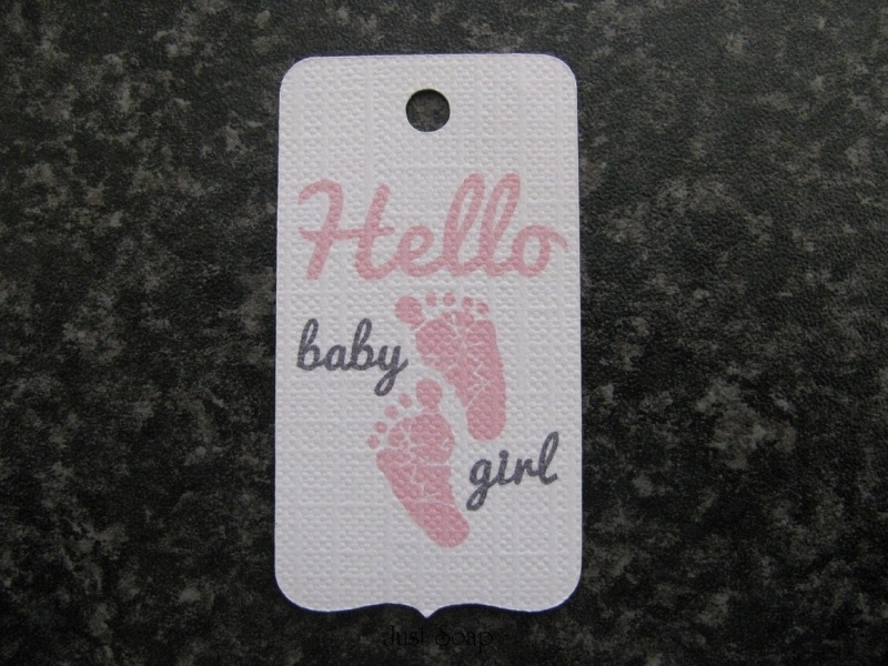 Label Hello baby girl