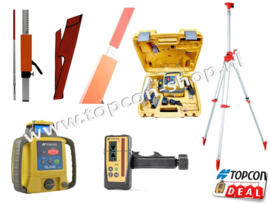 Bouwlaser RL-H4C met mm Ontvanger + opdraaibaar statief & laserbaak