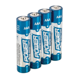 AAA super alkaline batterij LR03, 4 pk