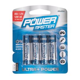 AA super alkaline batterij LR06, 4 pk