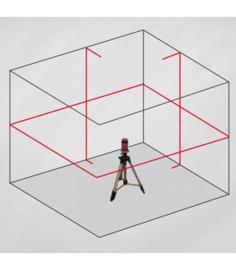 Cone / Kruislijnlaser CCL203R, 2 lijnen / 360° horizontaal