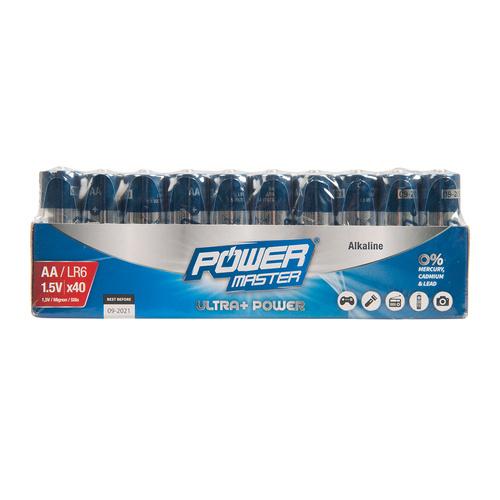 AA super alkaline batterij LR06, 40 pk