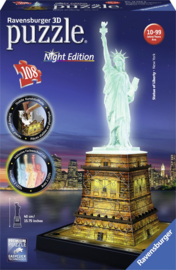 Puzzel 3D Vrijheidsbeeld Night Edition