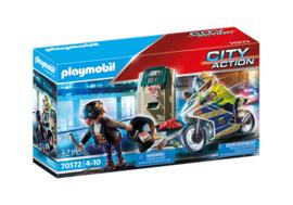 70572 Playmobil Politiemotor Achtervolging