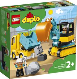 10931 Duplo Truck en Graafmachine