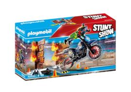 70553 Playmobil Stuntshow Motor met Vuurmuur