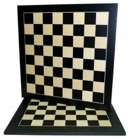Schaakbord Zwart/Ahorn 50 cm