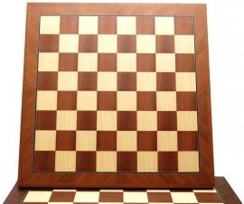 Schaakbord Mahonie/Ahorn Hout 48cm