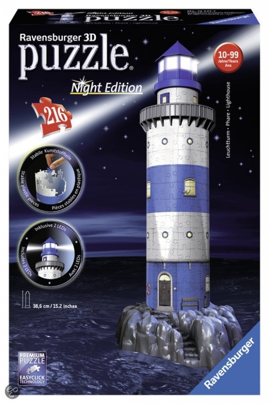 Puzzle 3D Vuurtoren Night Edition