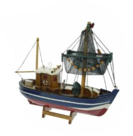 Vissersboot met netten