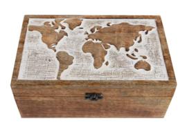Opbergkist Wereldkaart
