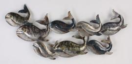 Metalen Wanddecoratie Walvissen