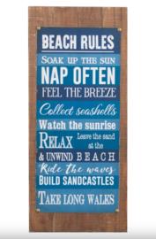 J-Line Tekstbord Beach Rules