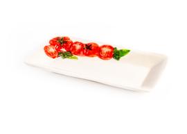 PO51 Rechthoekig plat schaaltje tomaat
