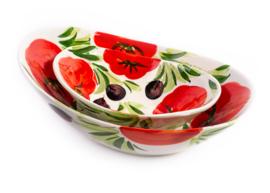 GR12T Ovale diepe schaal tomaat, medium