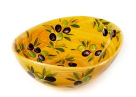 Giada schaal  geel/oranje met olijven NIEUW