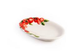 P073 Ovaal plat schaaltje tomaat klein