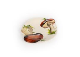 RWB08 Schaaltje plat bruine paddenstoelen