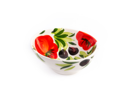 GB014 Organische schaal tomaat/olijven, mini