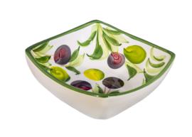 OV02 Vierkant diep schaaltje olijf, medium