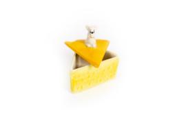 KA13 Schaaltje voor geraspte kaas met muis op het dekseltje