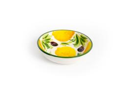 GR61 Schaaltje citroen/olijf rond 16cm
