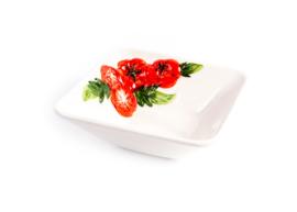 P055 vierkant diep schaaltje tomaat