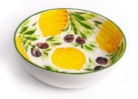 GR60 Ronde schaal met citroenen en olijven, groot