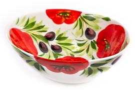 GB044 Organische schaal tomaat/olijf, groot