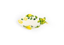 Visschaal visvorm met citroenen, klein NIEUW