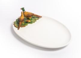 FL42 Ovale schaal met fazant