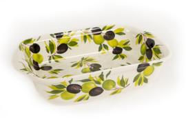 Ovenschaal -lasagneschaal olijven