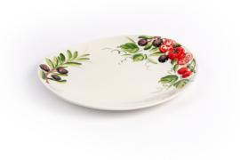 PO10 Ovaal bord met olijven en tomaten